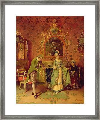 The Fiddler Framed Print by L Alvarez