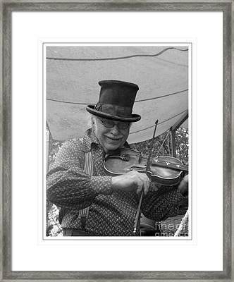 The Fiddler Framed Print by Sara  Raber
