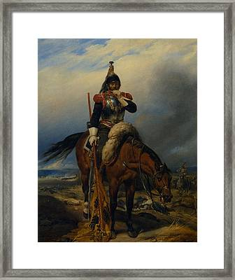 The Field Of Battle Framed Print by Paul  Delaroche