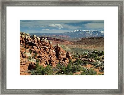 The Fiery Furnace And La Sal Mountains Framed Print
