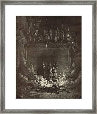 The Fiery Furnace Framed Print by Antique Engravings