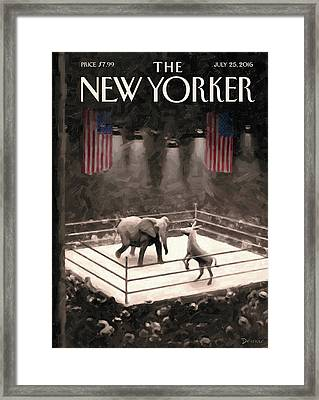 The Fight Begins Framed Print