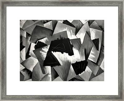 The Fight Of Good And Evil Framed Print by Anthony Falbo