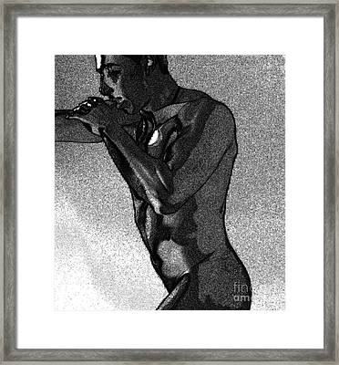 The Fighter Framed Print by Robert D McBain