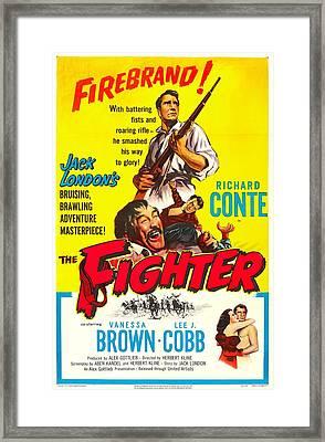 The Fighter, Us Poster, Bottom Right Framed Print by Everett