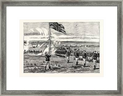 The Fighting Between Portuguese And British South Africa Co Framed Print by South African School