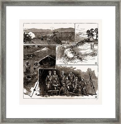 The Fighting With Dacoits In Burma Framed Print