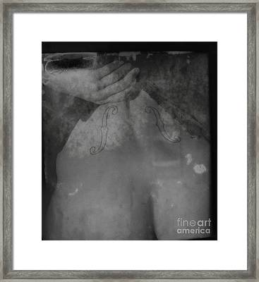 The Figure Of Classical Sound Framed Print