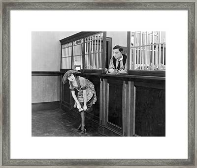 The Film the Haunted House Framed Print