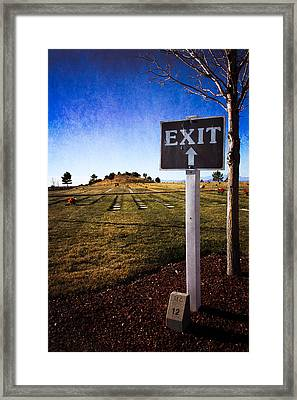 Framed Print featuring the photograph The Final Exit by Dave Garner