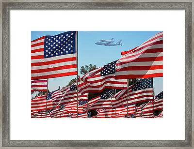 The Final Flight Of The Space Shuttle Framed Print