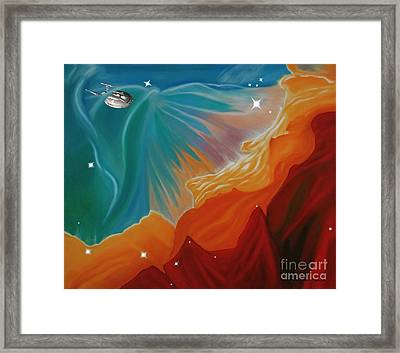 The Final Frontier Framed Print by Barbara McMahon