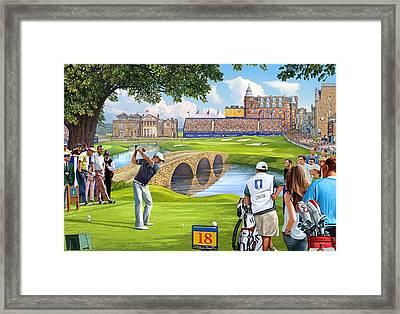 The Final Hole -golfers Paradise Framed Print by Steve Crisp