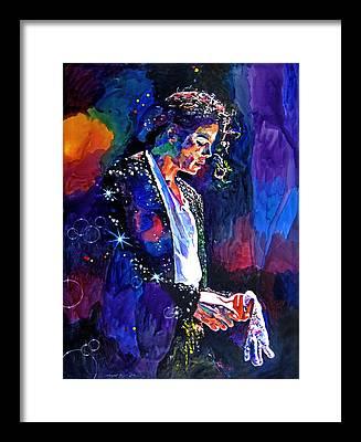 Music Pop King Of Pop Framed Prints