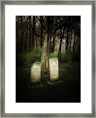 The Final Resting Place Of Ambros And Brazilla Ivins Framed Print