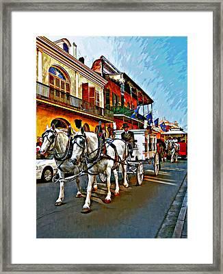 The Final Ride Painted Framed Print by Steve Harrington