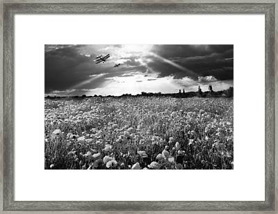The Final Sortie Wwi Black And White Version Framed Print by Gary Eason