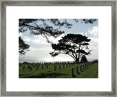 The Final Sunset Framed Print by Judy  Waller