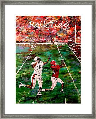 The Final Yard Roll Tide  Framed Print