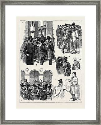 The Financial Crisis In France Framed Print by French School