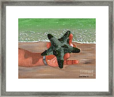 The Find Framed Print by Laura Forde