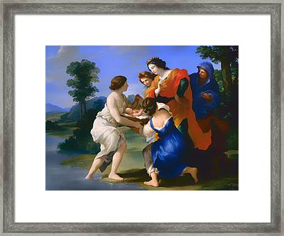 The Finding Of Moses Framed Print by Mountain Dreams