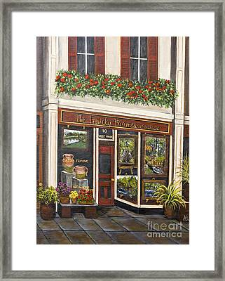 The Finicky Framer By Alison Tave Framed Print