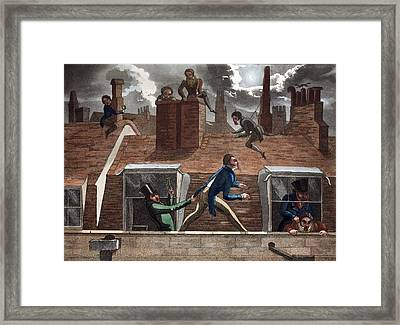 The Finishing Bore, Illustration Framed Print by Daniel Thomas Egerton