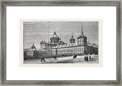 The Fire At The Escurial Palace The Palace Framed Print by English School