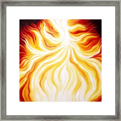 The Fire Falls  Framed Print by Sandra Yegiazaryan