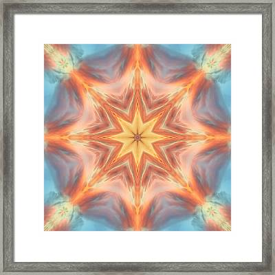 The Fire From Within Mandala Framed Print