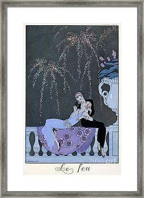 The Fire Framed Print by Georges Barbier