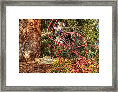 Framed Print featuring the photograph The Fire Hose Reel by Thom Zehrfeld