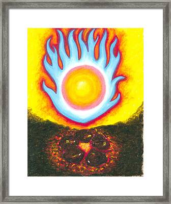The Fire Of Authenticiy Framed Print