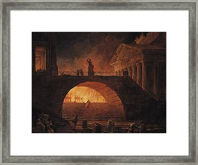 The Fire Of Rome Framed Print
