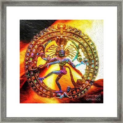 The Fire Of Shiva Framed Print by Tarik Eltawil