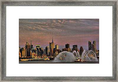 The Fireboat Framed Print