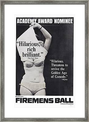 The Firemens Ball, Aka Hori, Ma Framed Print