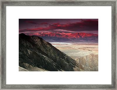 The Fires Of Mordor Framed Print by Kenan Sipilovic
