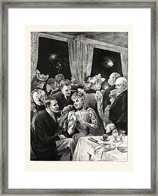 The Fireworks At The Crystal Palace Framed Print