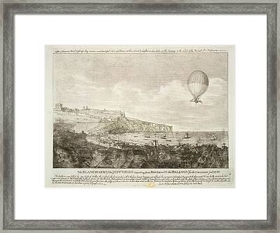 The First Airbourne English Channel Cross Framed Print by British Library