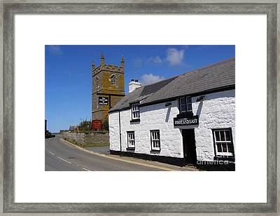 The First And Last Inn In England Framed Print by Terri Waters
