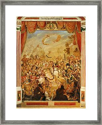The First Appearance Of William Shakespeare On The Stage Framed Print by Litz Collection