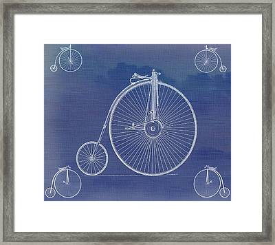 The First Bicycle Penny-farthing Framed Print