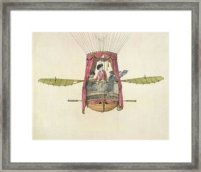 The First British Female Air Traveller Framed Print by British Library