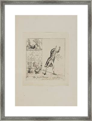 The First Charge - Exit In Fumo Framed Print by British Library