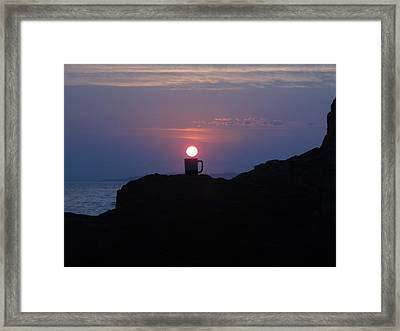 The First Cup Framed Print by Donnie Freeman