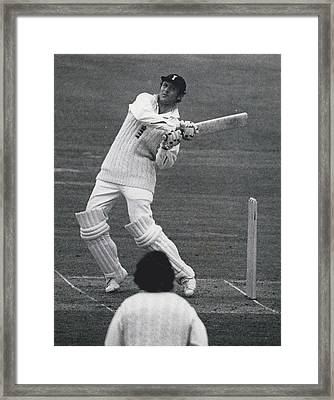 The First Day Of The Second Test - England V. New Zealand Framed Print by Retro Images Archive