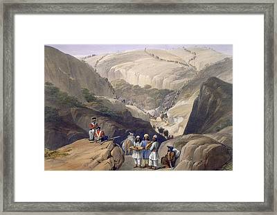 The First Descent Through The Koojah Framed Print