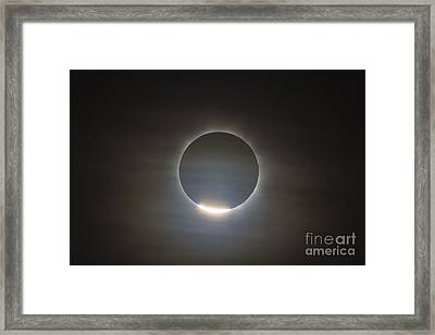 The First Diamond Ring During The Total Framed Print